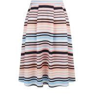 pink-stripe-pleated-midi-skater-skirt-new-look-29.99